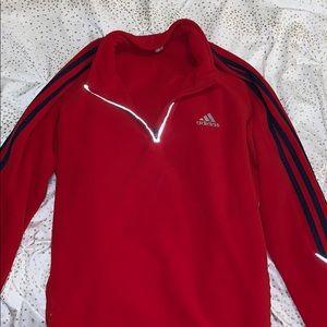 Red adidas quarter zip